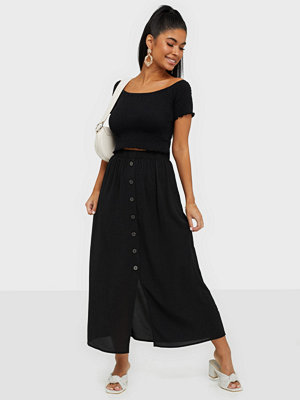 Only Onlnova Lux Long Button Skirt Solid