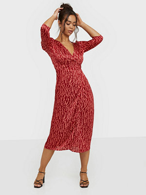 Glamorous V Neck Printed Dress