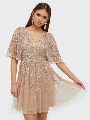 Maya Delicate Sequin Kimono Sleeve Mini Dress