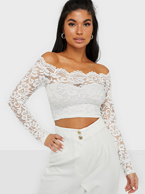 Toppar - NLY One Off Shoulder Lace Top