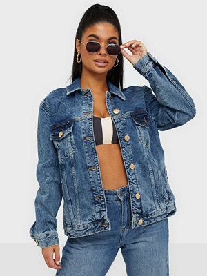Jeansjackor - River Island Denim Trucker Jacket