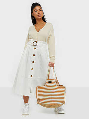 River Island Belted Structured Midi Skirt