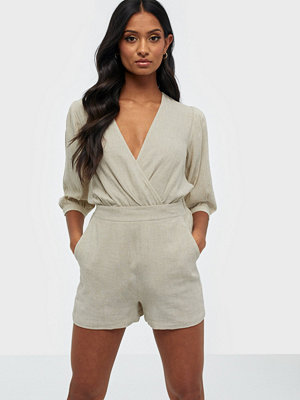 NLY Trend Simple Linen Shorts