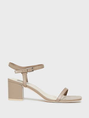 NLY Shoes Square Block Heel Sandal Nougat
