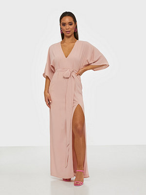 NLY Eve Tie Front Kimono Gown Rosa