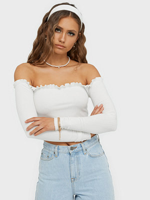 NLY Trend Cropped Frill Top
