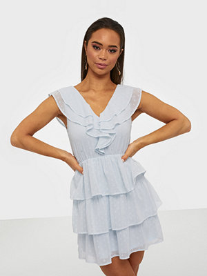 NLY Trend Sheer Frill Dobby Dress