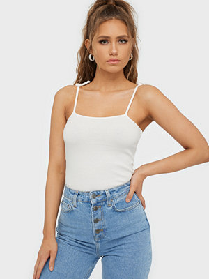 NLY Trend Tie Shoulder Rib Top