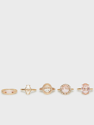 NLY Accessories Gem Ring Set