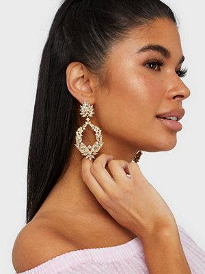 Pieces örhängen Pcmargot Earrings Gold Guld