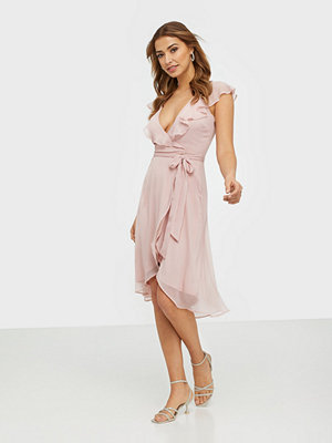 NLY Trend Dashing Flounce Dress Dusty Pink