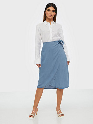 Kjolar - Vero Moda Vmlaura Mr Knot Wrap Midi Skirt Ga