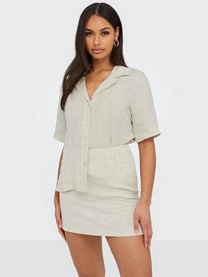 Morris Donna Linen Shirt Khaki