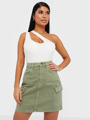 Gina Tricot Cargo Denim Skirt