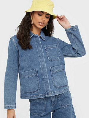 Selected Femme Slfmartha Mid Blue Denim Jacket W