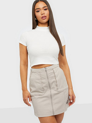 Calvin Klein Jeans Cotton Twill Utility Skirt