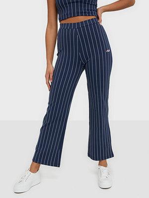 Fila marinblå randiga byxor SANNE cropped pants