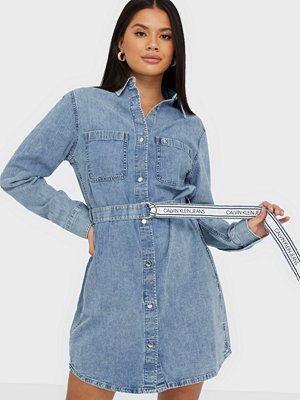Calvin Klein Jeans Relaxed Shirt Dress Belt