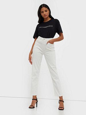 MOSS Copenhagen Melanie Crystal HW Ankle Jeans