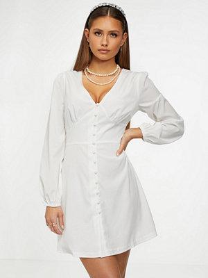 Glamorous V Neck Button Dress