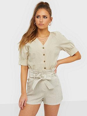 NLY Trend High Waist Linen Shorts