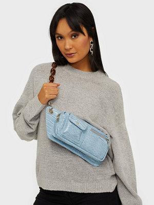 hvisk ljusgrå väska BRILLAY CROCO