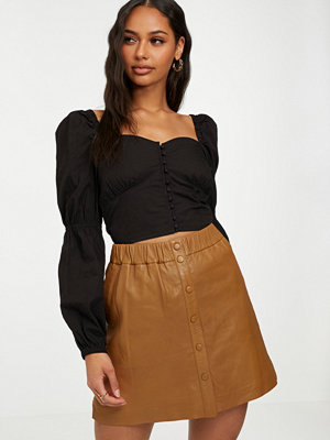 NORR Niko leather skirt