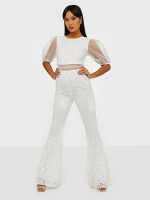 Rare London Embroidered Mesh Jumpsuit