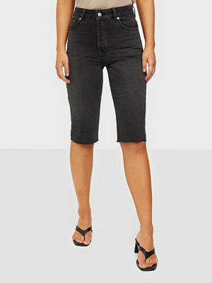 Selected Femme Slflou Mw Slim Grey Stone Shorts W