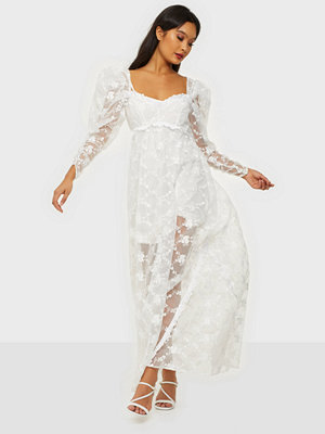 For Love & Lemons Rawlins Embroidery Maxi Dress