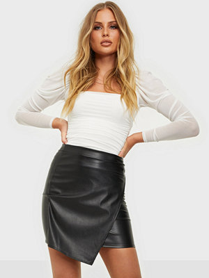 NLY One Leather Look Wrap Skirt