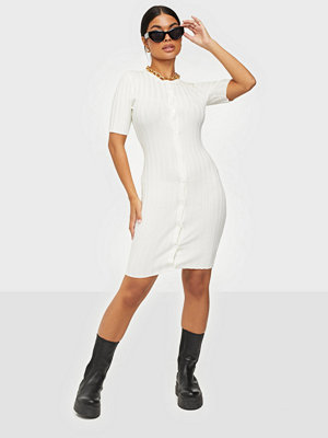 Missguided Ribbed Button Body Mini Dress