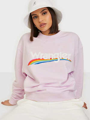 Wrangler High Rib Retro Sweat Lilac Ice
