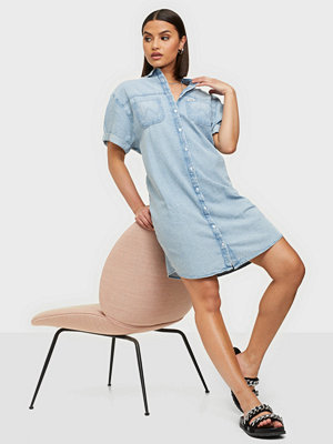 Wrangler Denim Shirt Dress Light Indigo