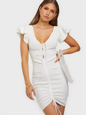 Missguided Ruched Front Midi Dress