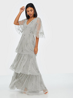 Maya Embellished Tiered Maxi Dress
