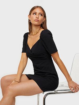 Glamorous Wrap Puff Sleeve Dress
