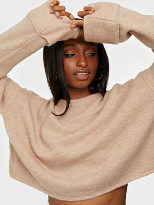 NLY Trend Cropped Folded Sleeve Knit