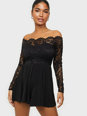 NLY One Off Shoulder Lace Playsuit
