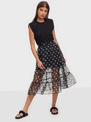 River Island Polka Dot Organza Midi Skirt