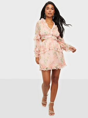 Parisian Floral Frilly Mini Dress