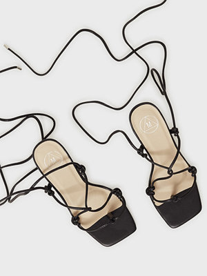 Missguided Extreme Square Strappy Mid Heel