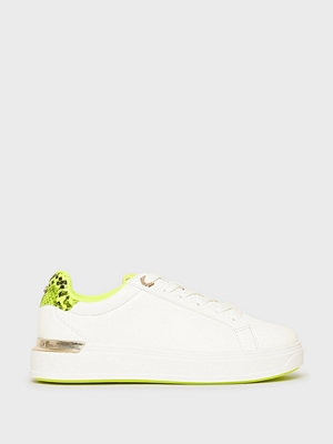 River Island Neon Chunky Flat Lace up