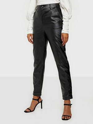 Missguided byxor Faux Leather Cigarette Trousers