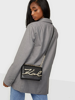 Karl Lagerfeld svart axelväska K/Karl Seven Shoulderbag