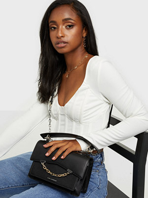Karl Lagerfeld svart axelväska K/Signature Small Shoulderbag