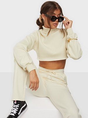 NLY Trend Raw Edge Cropped Sweat