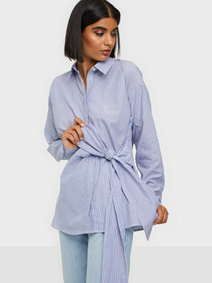 NLY Trend Tie Drape Stripe Shirt