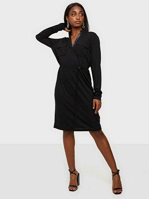 Calvin Klein Ls V-Neck Pkt Jersey Shirt Dress