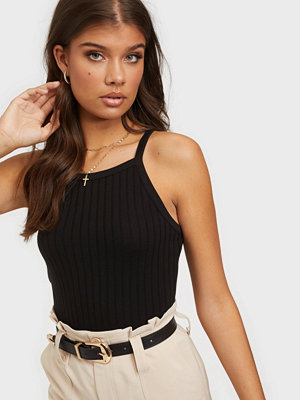 NLY Trend Ribbed Strap Top